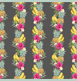 watercolor tropical pattern vector image vector image