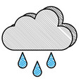 weather cloud rainy icon vector image