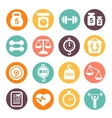 weight and fitness colored icon set vector image vector image