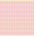 white wallpaper with pink hearts pattern for vector image