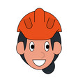 woman worker face vector image