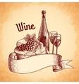 Wine sketch poster vector image