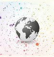 black world globe on color circle background vector image