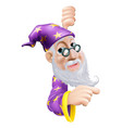 friendly wizard pointing vector image