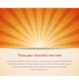 Sunny card for your business vector image