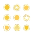 Different hand drawn suns vector image