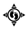 1252 social distancing footprint 1m