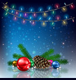 abstract background with christmas lights vector image vector image
