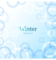 Abstract light winter background vector image vector image