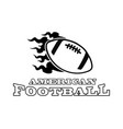 american football logo black and white vector image vector image