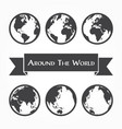 around the world outline of world map vector image vector image