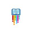 art book logo icon design vector image vector image