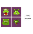 assembly of flat icons on theme funny animals vector image vector image