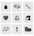 Bakery icon set vector image vector image