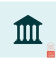 Bank icon isolated vector image vector image