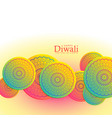 beautiful happy diwali festival background with vector image vector image