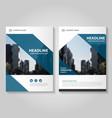 Blue annual report Leaflet Brochure Flyer set vector image vector image