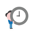 businessman character holding clock vector image vector image