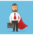 Businessman superhero concept cartoon vector image vector image