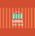 carnival funfair with tent background vector image vector image