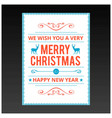 chrismtas card with light background and frame vector image