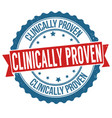 clinically proven grunge rubber stamp vector image vector image