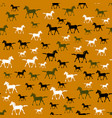 colored running horse seamless pattern vector image vector image
