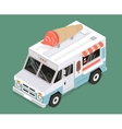 cool isometric ice cream van vector image vector image