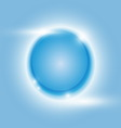 Design blue glow circle abstract background vector image vector image