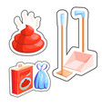 dog cleaning set vector image vector image