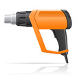 electric hot air dryer gun vector image vector image