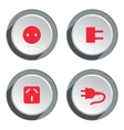 Electric socket base icon set Power energy symbol vector image vector image
