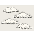 Engraving clouds vector image vector image