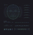 face recognition interface futuristic hud vector image