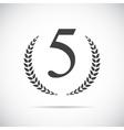 Fifth Place Laurel Design Label vector image