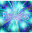 firework holiday background vector image vector image