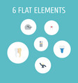 flat icons equipment halitosis treatment and vector image
