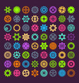 gear mechanism icons isolated vector image vector image