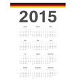 German 2015 year calendar vector image vector image