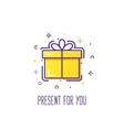 Gift box logo vector image vector image