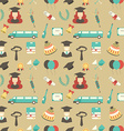 Graduation Celebration Pattern background vector image vector image
