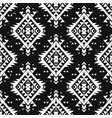 grunge monochrome seamless decorative ethnic vector image vector image