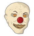 head scary clown the bald man vector image