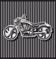 heavy duty biker motorcycle w-shaped motor image vector image