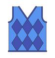 icon in flat design golf vest vector image