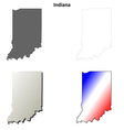 Indiana outline map set vector image vector image