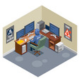 internet threats isometric composition vector image vector image
