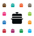 isolated lid icon culinary element can be vector image
