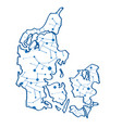 isolated map of denmark vector image vector image