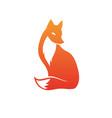 isolated orange fox icon creative logo concept vector image